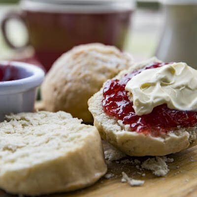 Devonshire Tea with scones, jam and cream